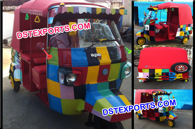 Wedding Decorated Auto Rickshaw for Bridal Entry