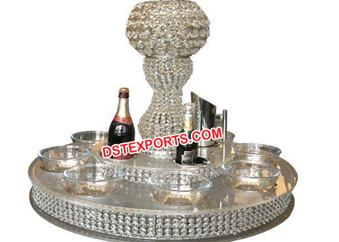 Revolving Tier Crystal lazy Susan