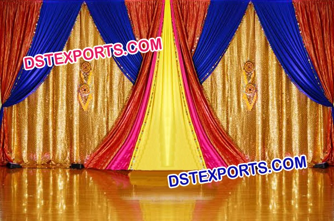 Glittering Wedding Stage Backdrop