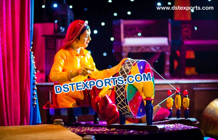 Mehndi Stage Fiber Statue Decoration