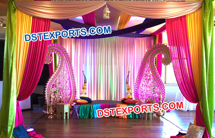 Indian Wedding Mehndi Stage