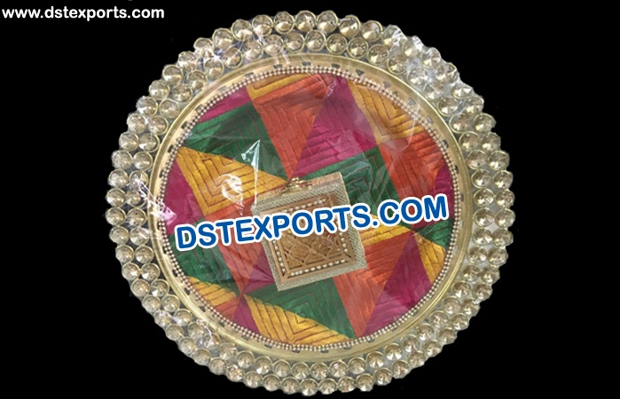 Punjabi Wedding Ring Ceremony Thaal