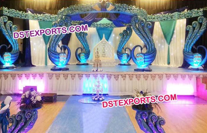 Wedding Fiber Swan Mandap
