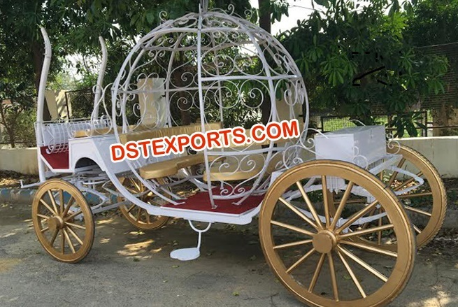 New Covered Cinderella Horse Carriage