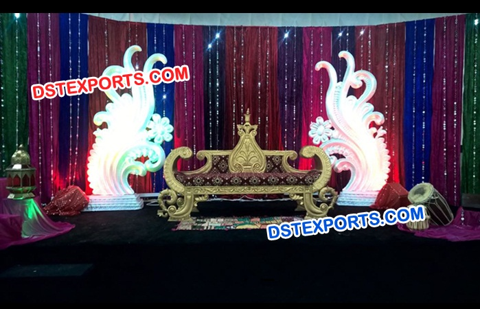 King Wedding Mehandi Sangeet Decoration