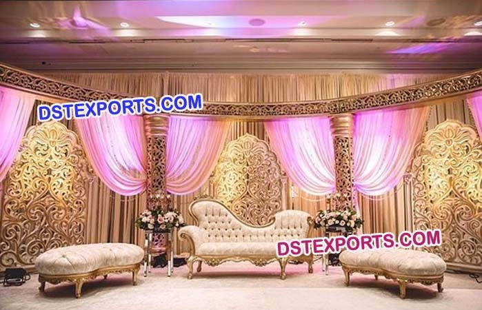 Muslim Wedding Flower Panels Stage
