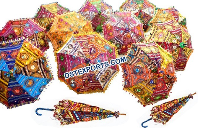 Traditional Handmade Colorful Indian Parasols
