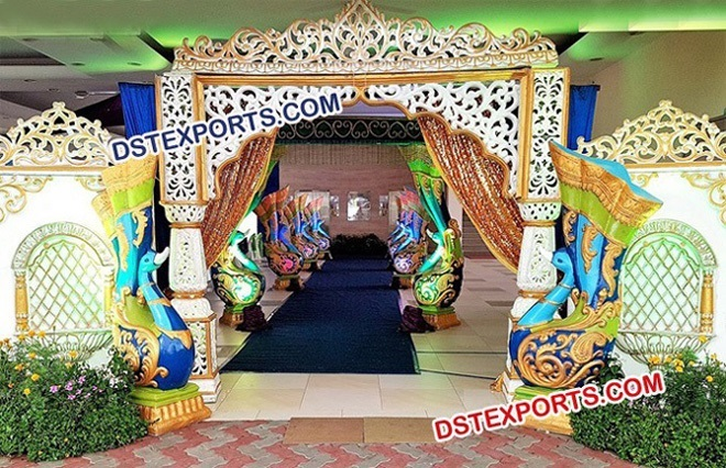 Peacock Theme Wedding Welcome Gate