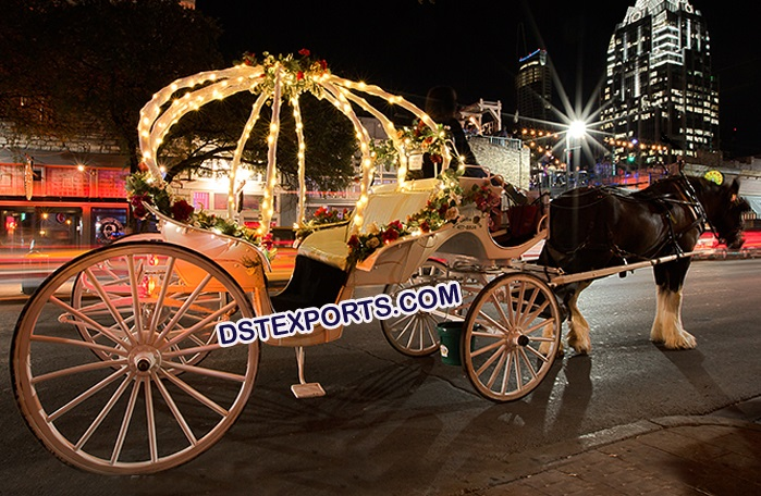 Lighted Wedding Small Horse Carriage