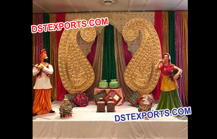 Punjabi Wedding Stage Decoration