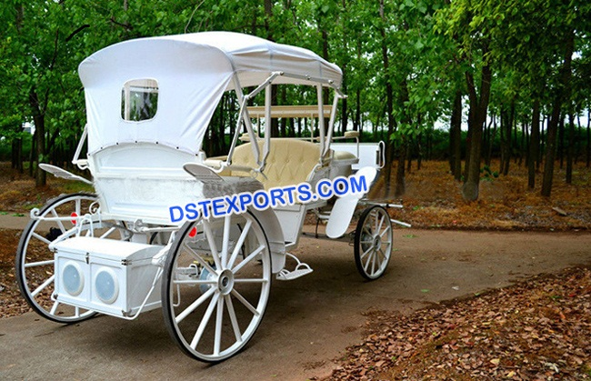 New White Victoria Carriage