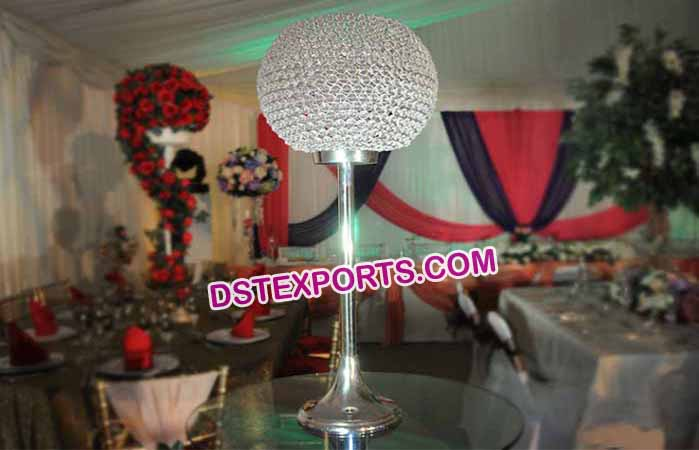 Ball Crystal Centerpieces