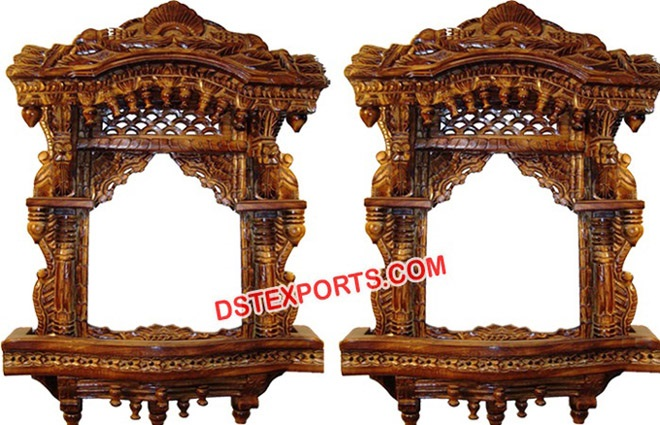 Traditional Rajasthani Decor Wooden Panel