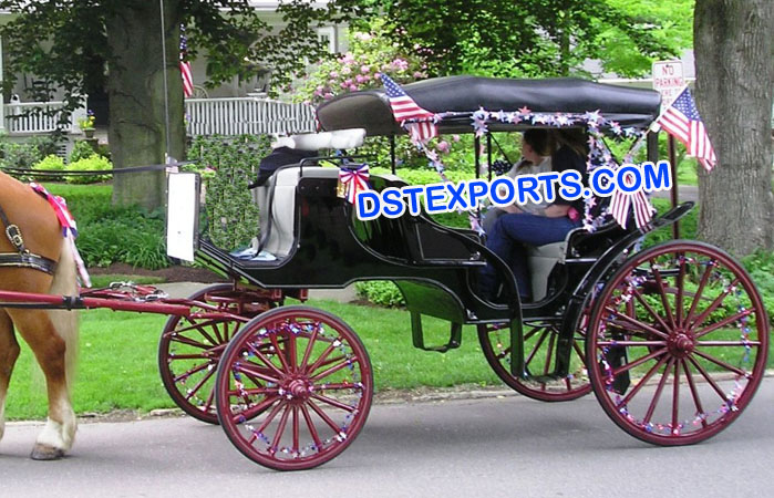 Black Victoria Horse Drawn Carriage