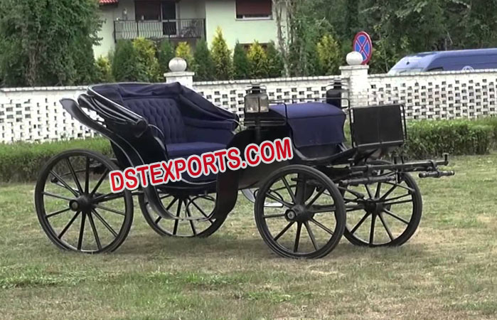 Two Seater Black Horse Carriage