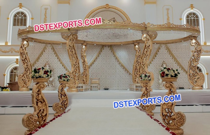 Designer Hand Carved Wood Mandap