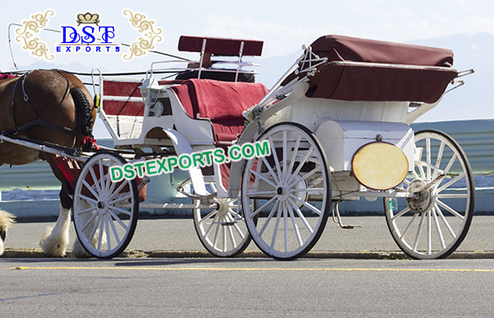 English Wedding Horse Drawn Victoria Buggies