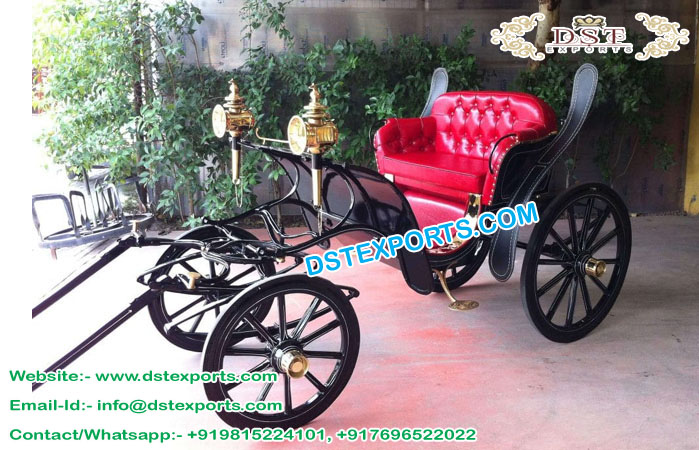 Handriven Wedding Horse Buggy for Sale