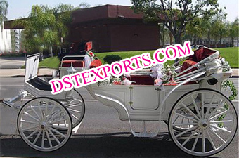 White Wedding Carriage For Sale