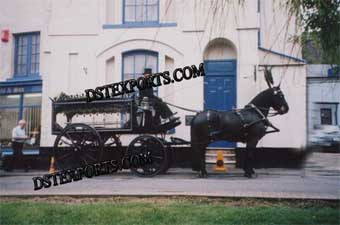 Black Funeral Horse Carriages