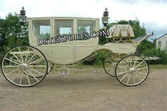 Royal Ivory Glass Carriage