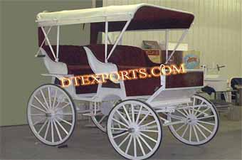 Double Seater Wedding Horse Carriages