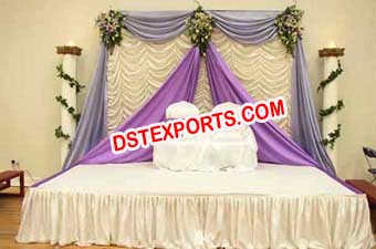 Decorated Frilled Stages Backdrops