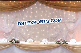 Decorated Star Wedding Backdrops