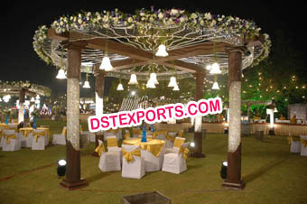 Indian Wedding Crystal Milni Mandap/Pagoda