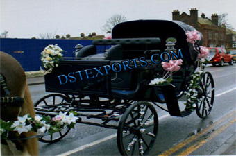 New Black Victoria Horse Carriages For Sale