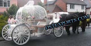 Cinderalla Covered Carriage For Wedding