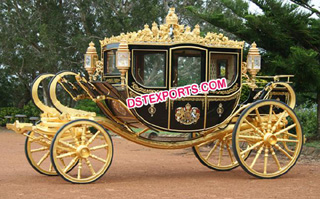 New Beautiful Royal Gold Carriages for Sale