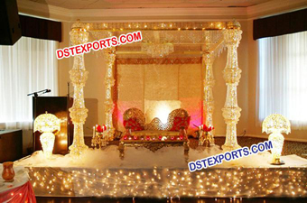 Wedding Golden Crystal Mandap