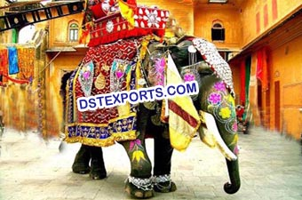 Decorated Elephant Horse Costume