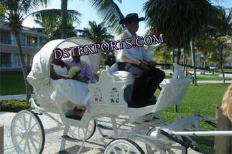 Latest White Two Seater Carriages