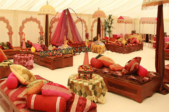 Asian Wedding Mehandi Night Stage Set
