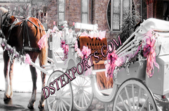 Wedding Colourful Victoria Carriages