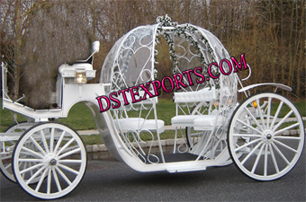 White Cinderella Wedding Carriages