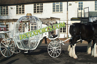 Wedding White Cinderella Horse Carriages