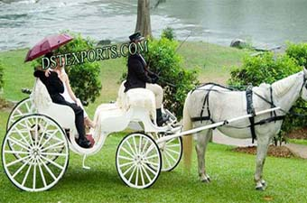 Two Seater Wedding Horse Carriages