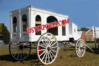 White Funeral Carriage