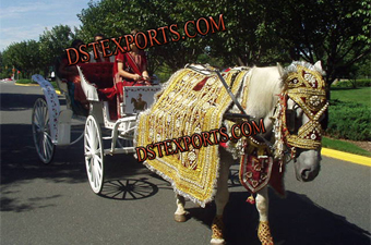 Indian Baraat Golden Horse Costumes