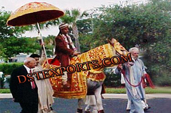 Wedding Horse Costumes  With Umberellas