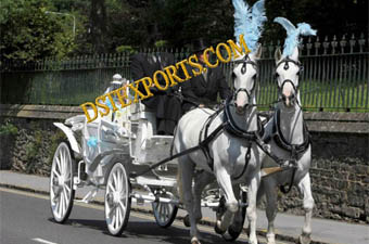 Double Horse Wedding Carriages