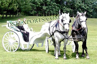 New Wedding Double Horse Carriages