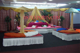 Asians Wedding New Mehandi Stage Set
