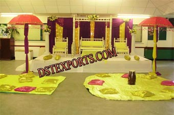 Asian Wedding Mehndi Night Stages Set
