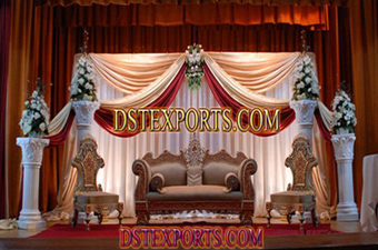 Asians Wedding New Elegent Stage Set