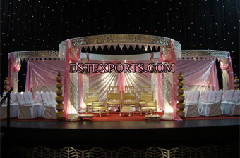 Wedding Night Lighted Fiber Crystal Mandap