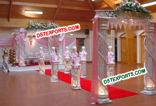 Wedding Crystal Fiber Mandap For Wedding
